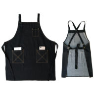 Denim Bib Tablier Noir