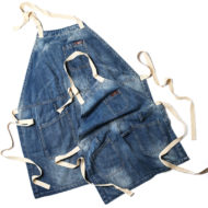 Enfant Adulte Denim Bib Tablier en Bleu