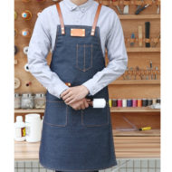 Denim Bib Tablier en Bleu